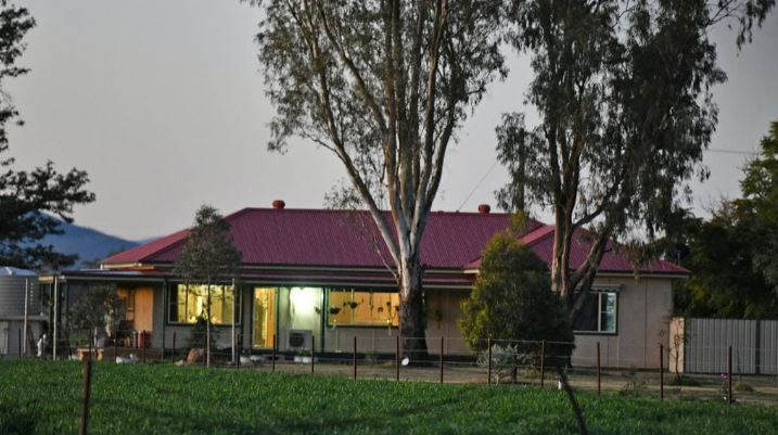 The farm house in Gunnedah where a teenager has been arrested after a young girl was found dead on Wednesday morning.