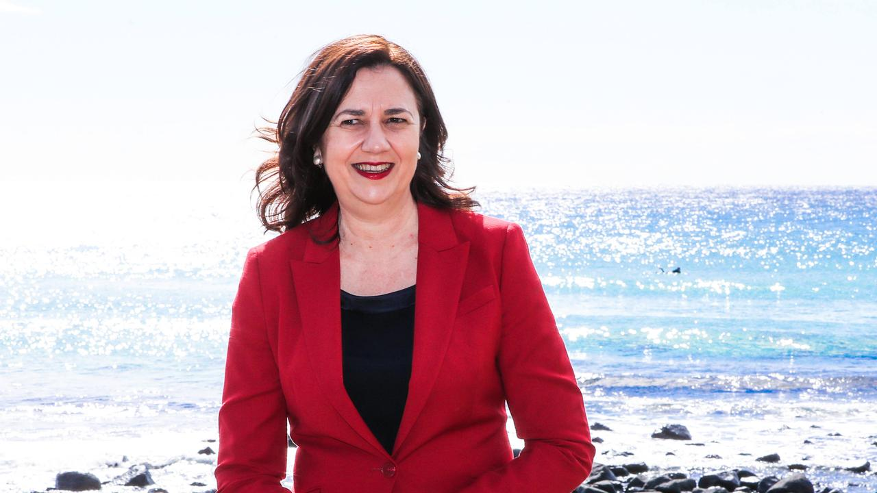"Premier Annastacia Palaszczuk forecasts ""long delays"" but no ""chaos and confusion around border pass requirements. Picture: NIGEL HALLETT"