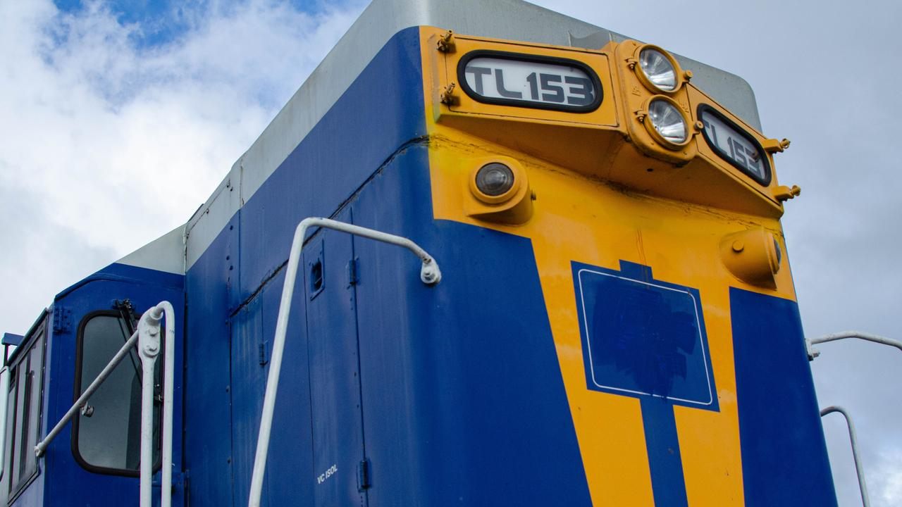 BIG TRAIN: The TL153 will be lifted into place on Friday morning.