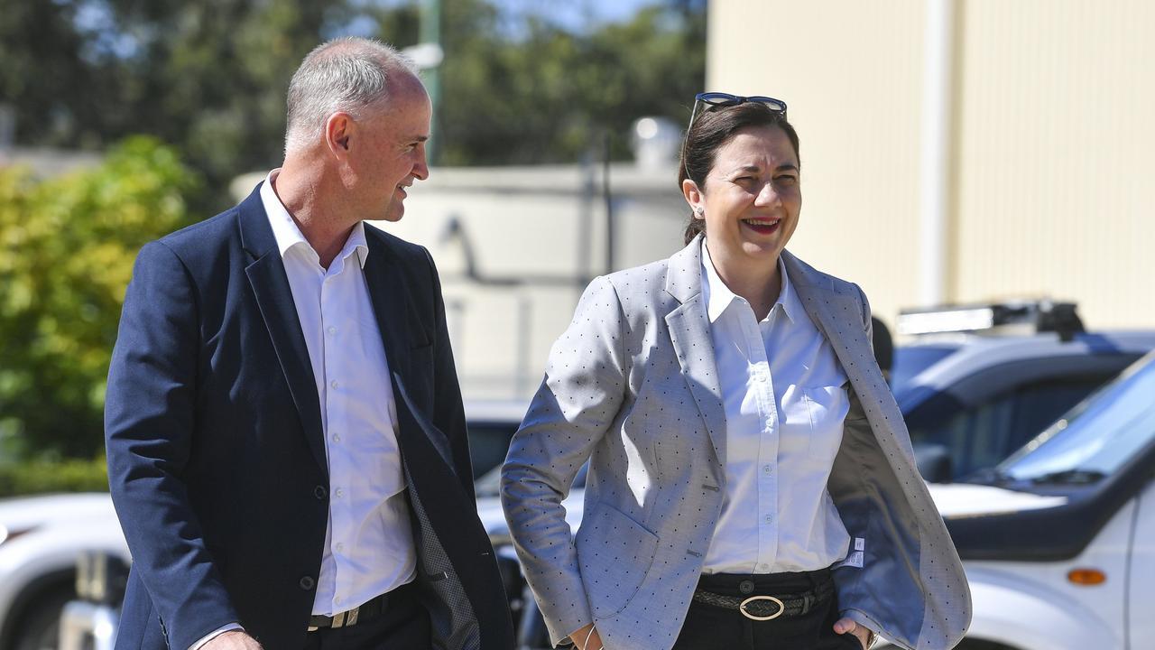 Queensland Premier Annastacia Palaszczuk and Minister for Regional Development and Manufacturing Glenn Butcher.