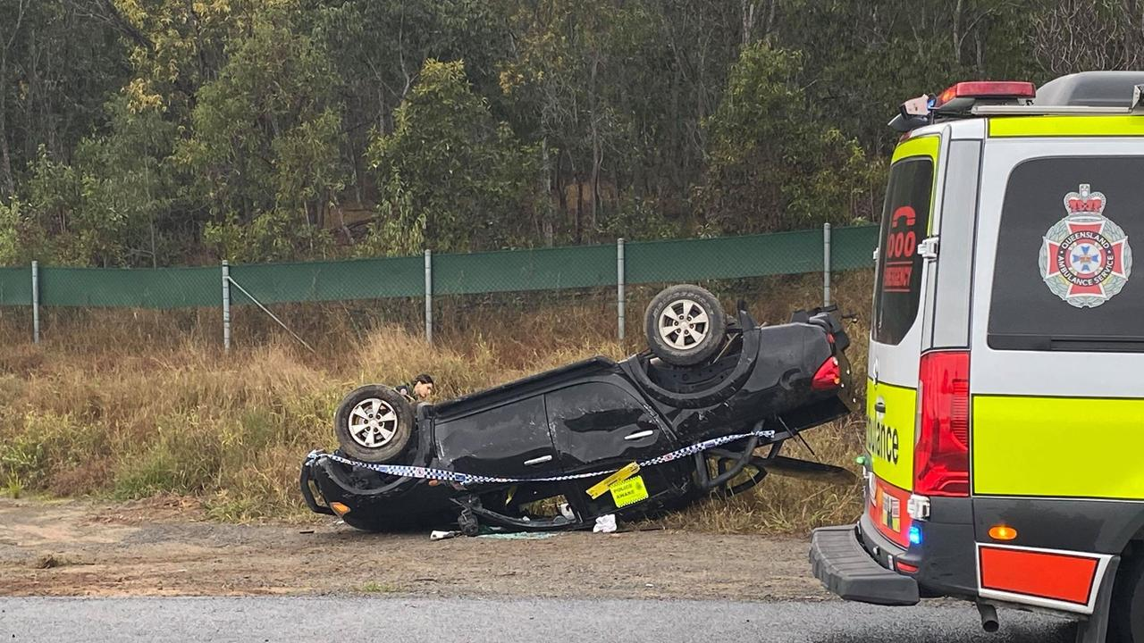 Vehicle rollover at Ripley