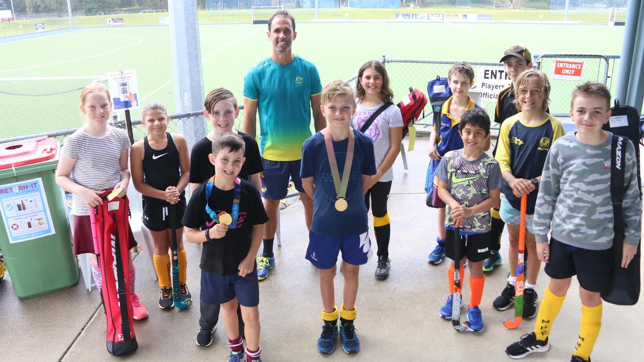 Four-time Olympian Mark Knowles hosted a holiday hockey skills clinic at the Sunshine Coast Hockey Association grounds on Thursday. Photo: Tom Threadingham