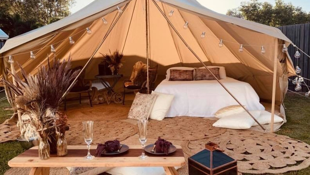 Two local businesses, The Best Intentions Tent Co and The Flackyard restaurant, have come together to offer a luxurious glamping degustation experience in Mackay's stunning Pioneer Valley.