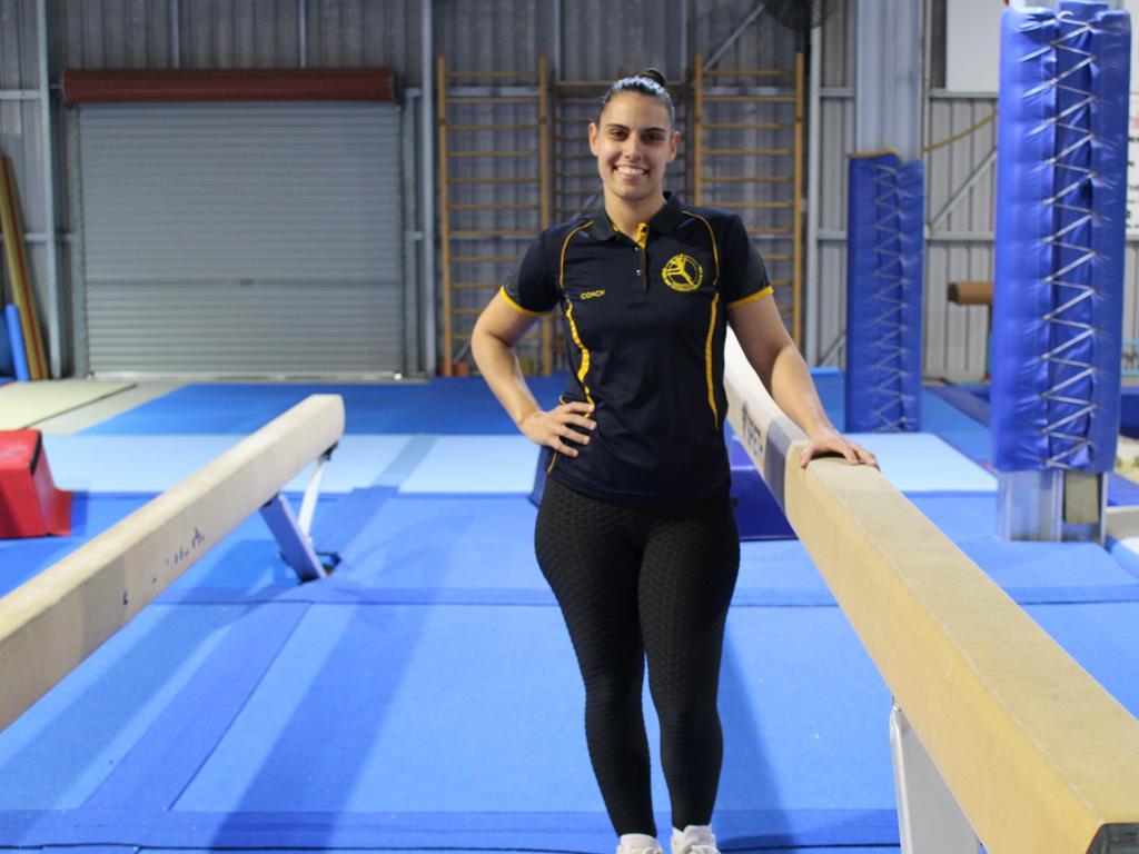 Wide Bay Gymnastics Head Coach Jade Hodges at the Wide Bay Gymnastics Club in Urangan. Photo: Jessica Cook