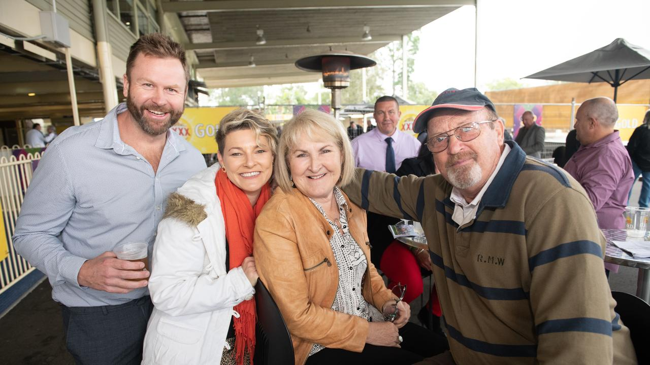 Brad and Shanna Farrell with Jenny and Robert Stockdale at Ramornie Day at Clarence River Jockey Club
