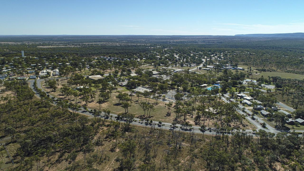 The town of Glenden from above.