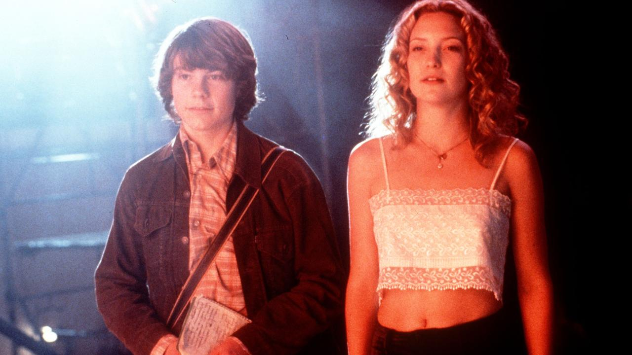 Patrick Fugit with Kate Hudson in Almost Famous – the film was a box office hit and cult classic.