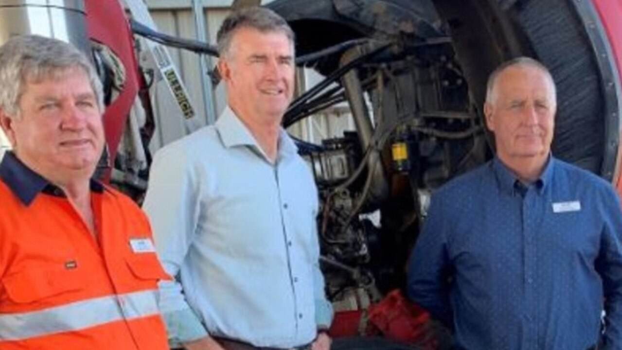 SUPPORTING BUSINESSES: LNP Candidate for Rockhampton Tony Hopkins (left), LNP Deputy Leader Tim Mander, LNP Candidate for Keppel Adrian de Groot want to see CQ's manufacturers flourish on the back of their promised marketing program.