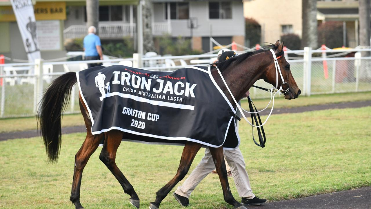 Jason Collett rode Kris Lees trained Sixties Groove to victory the $200,000 Iron Jack Grafton Cup (2350m) at Clarence River Jockey Club on Thursday, 9th July, 2020.