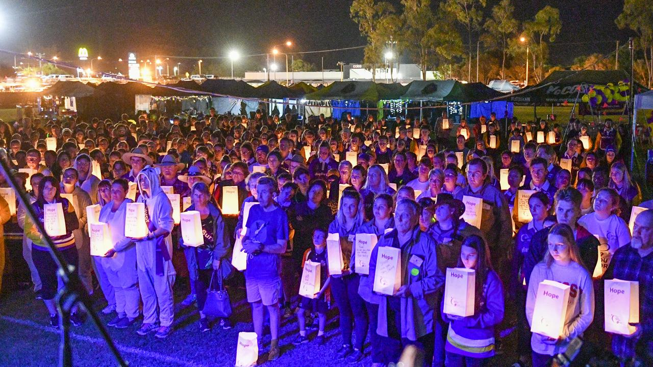 Cancer Council Queensland CEO Chris McMillan said the event will look different this year. Pictured: Gladstone's Relay for Life paused for a moving candlelight vigil.