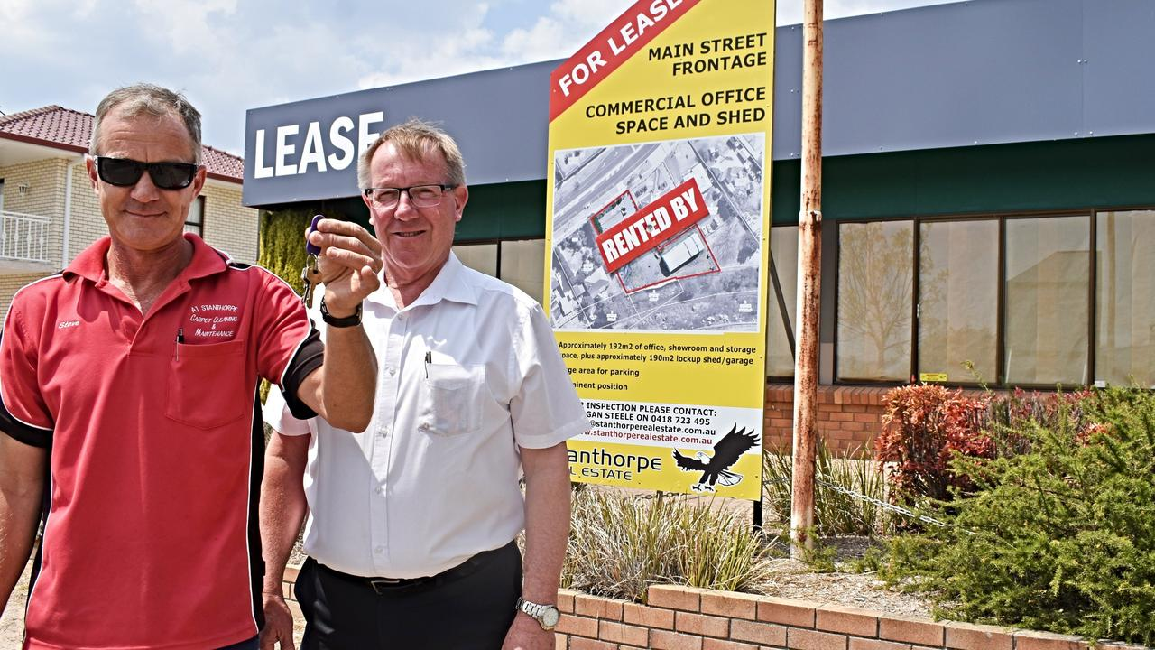IN DEMAND: Stanthorpe Real Estate's Logan Steele (right) said he can't keep up with the supply and demand of the region.