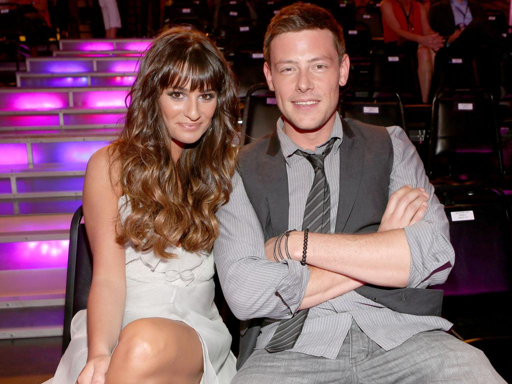 Lea Michele and Cory Monteith in 2012. Monteith died in 2013 of an alcohol and heroin overdose. Picture: Getty Images