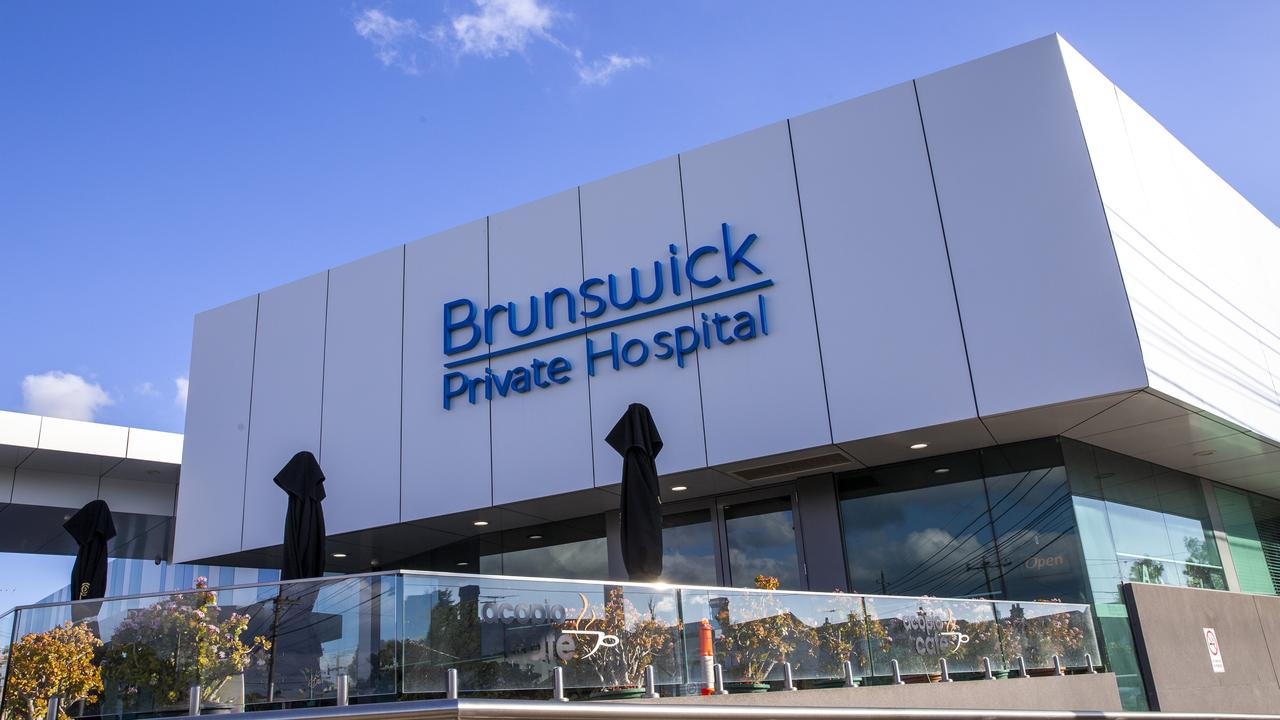 Brunswick Private Hospital is closed to new admissions. Picture: NCA NewsWire/Wayne Taylor