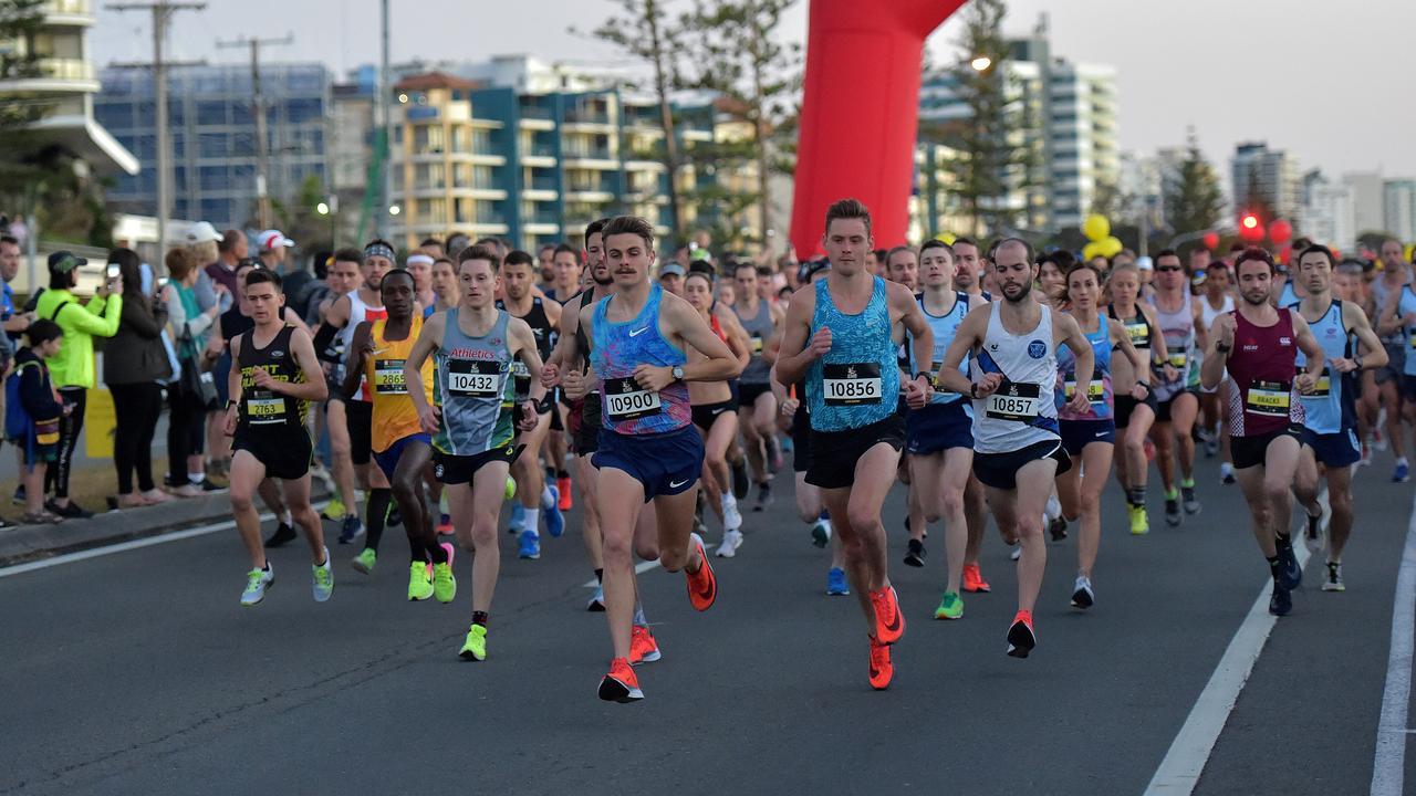 Runners take part in the Sunshine Coast Marathon last year. Photo: Warren Lynam