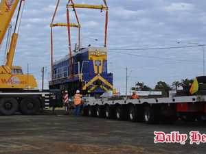 VIDEO: Dalby's new Big Train lifted into place