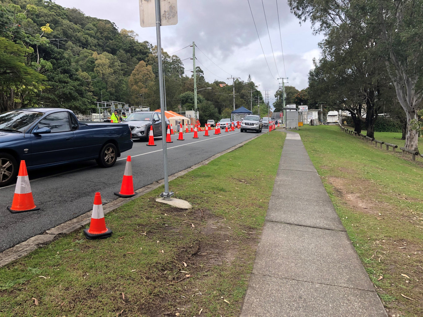 The QLD border reopened today. Traffic was moving smoothly at the crossing for local residents at Ducat St, Tweed Heads.