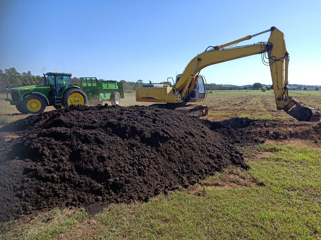 Treated biosolids at one of the Fraser Coast's many sewage treatment plants. Photo: Contributed