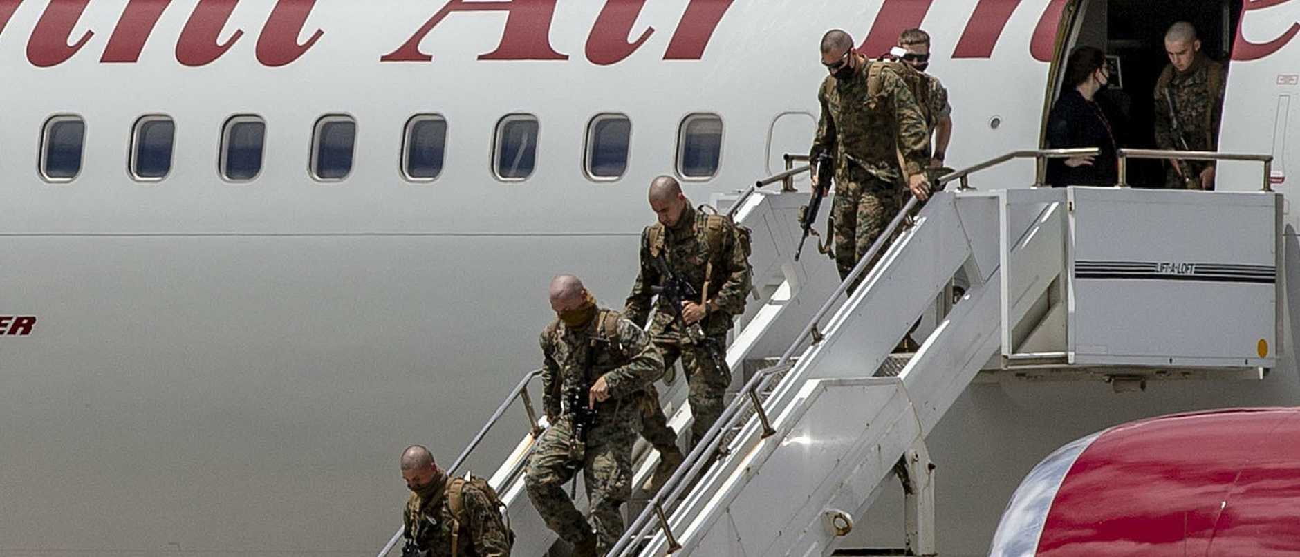 Marines in route to Darwin arrive in Okinawa for first of two 14-day quarantine periods