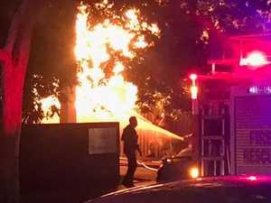 'Bangs, explosions': Huge fire engulfs Brisbane home