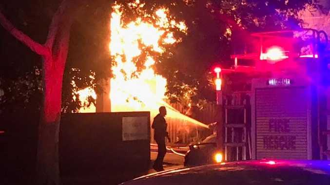 'Bangs, explosions': Huge fire engulfs Brisbane home