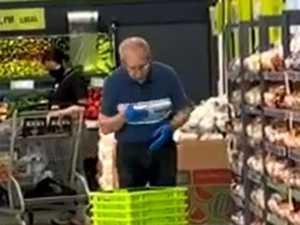 Supermarket worker's 'gross' act disgusts
