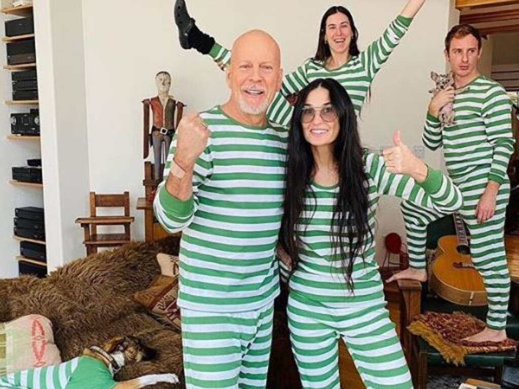 Bruce Willis and Demi Moore have been spending time with their families in coronavirus lockdown together. Picture: Instagram