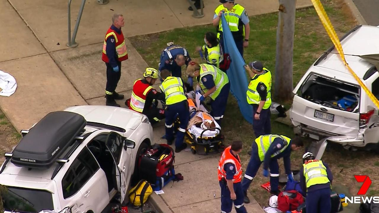 A child has died and four people are injured after a truck crash on Friday afternoon.
