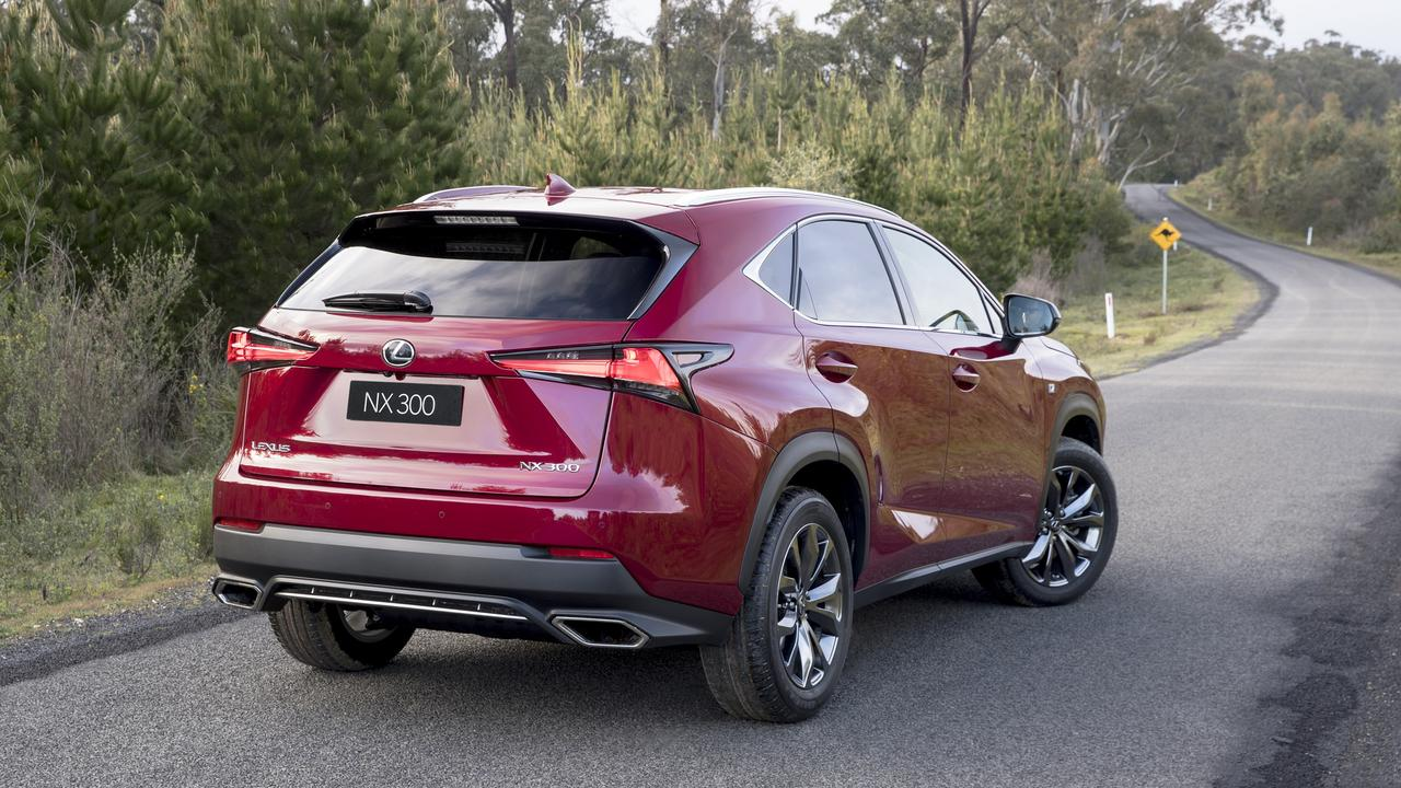 The Lexus NX is the brand's biggest seller and starts from about $60,000 drive-away.