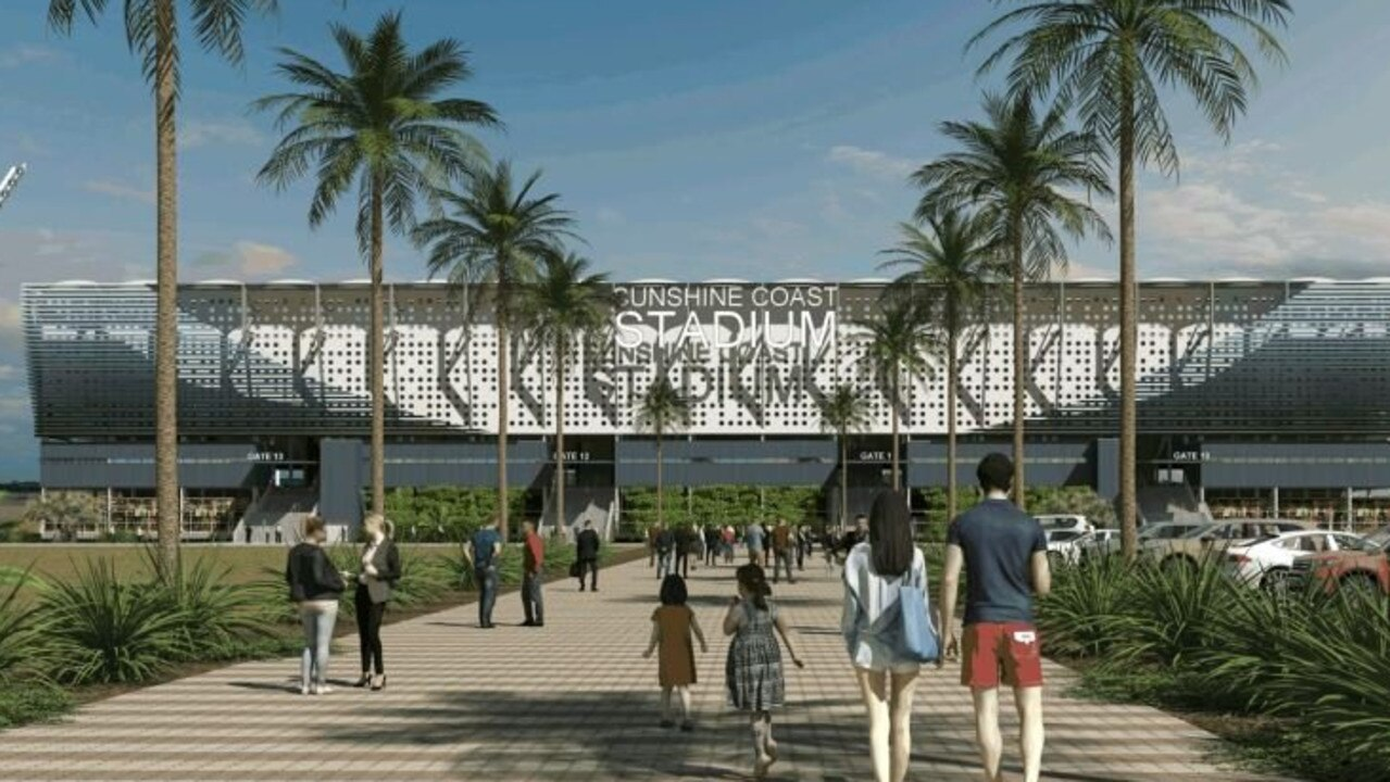 The proposed upgraded Sunshine Coast stadium which Mayor Mark Jamieson hopes would one day host a National Rugby League club.