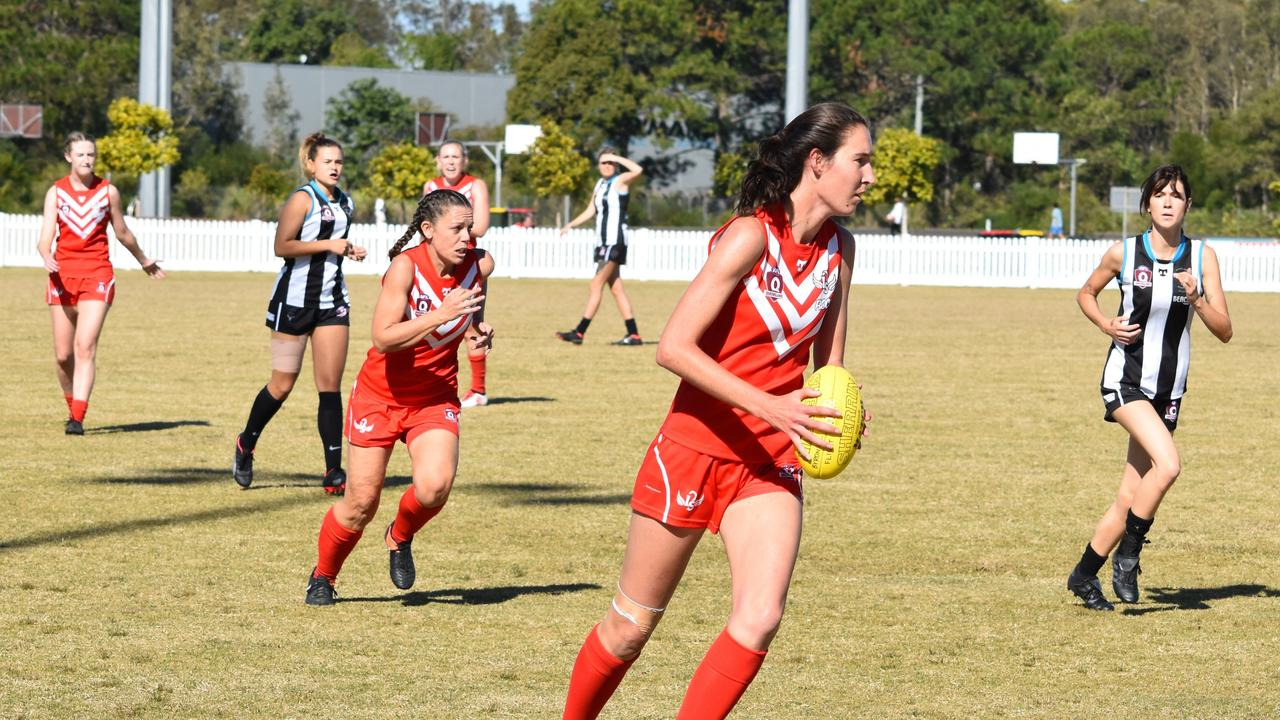 FOOTY FEVER: A high-octane game is predicted when back-to-back women's premiers the Lismore Swans take on the Byron Magpies at the latter's home ground at the Cavanbah Centre on Jul 11, 2020. Photo: Adrian Etherson.