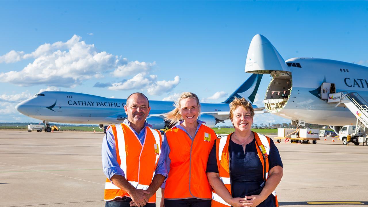 TSBE export team Justin Heaven, Helen Ward, and Helen Bates.