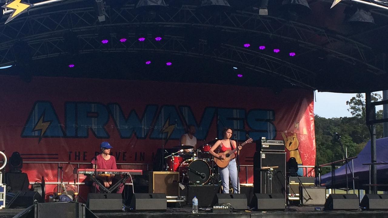 SOUNDCHECK: Sahara Beck prepares for The Airwaves Festival at Nambour Showgrounds.