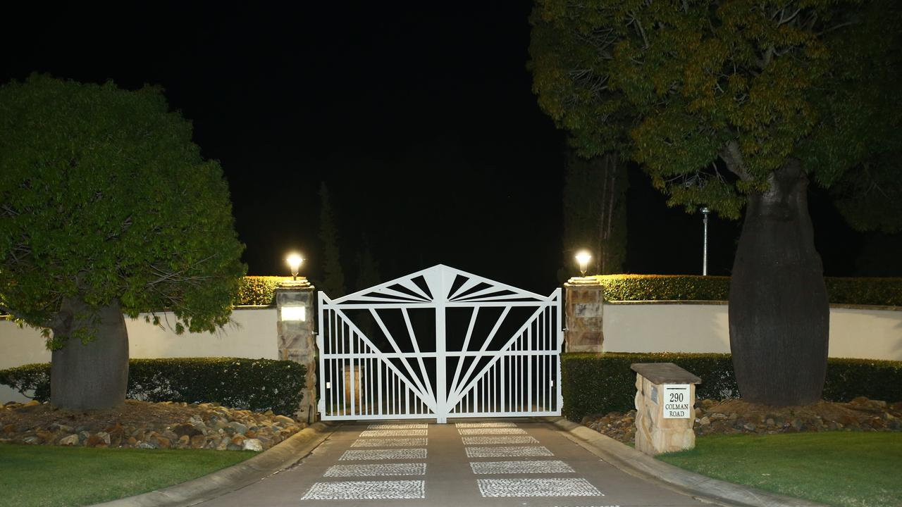 The front gates to Mick Doohan's house where Depp rented. Photo: Kit Wise