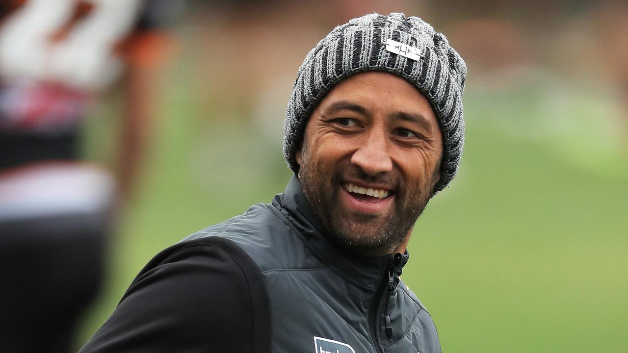 Benji Marshall is happy to play anywhere in the Tigers' line-up when he returns against South Sydney this weekend. Picture: Getty Images