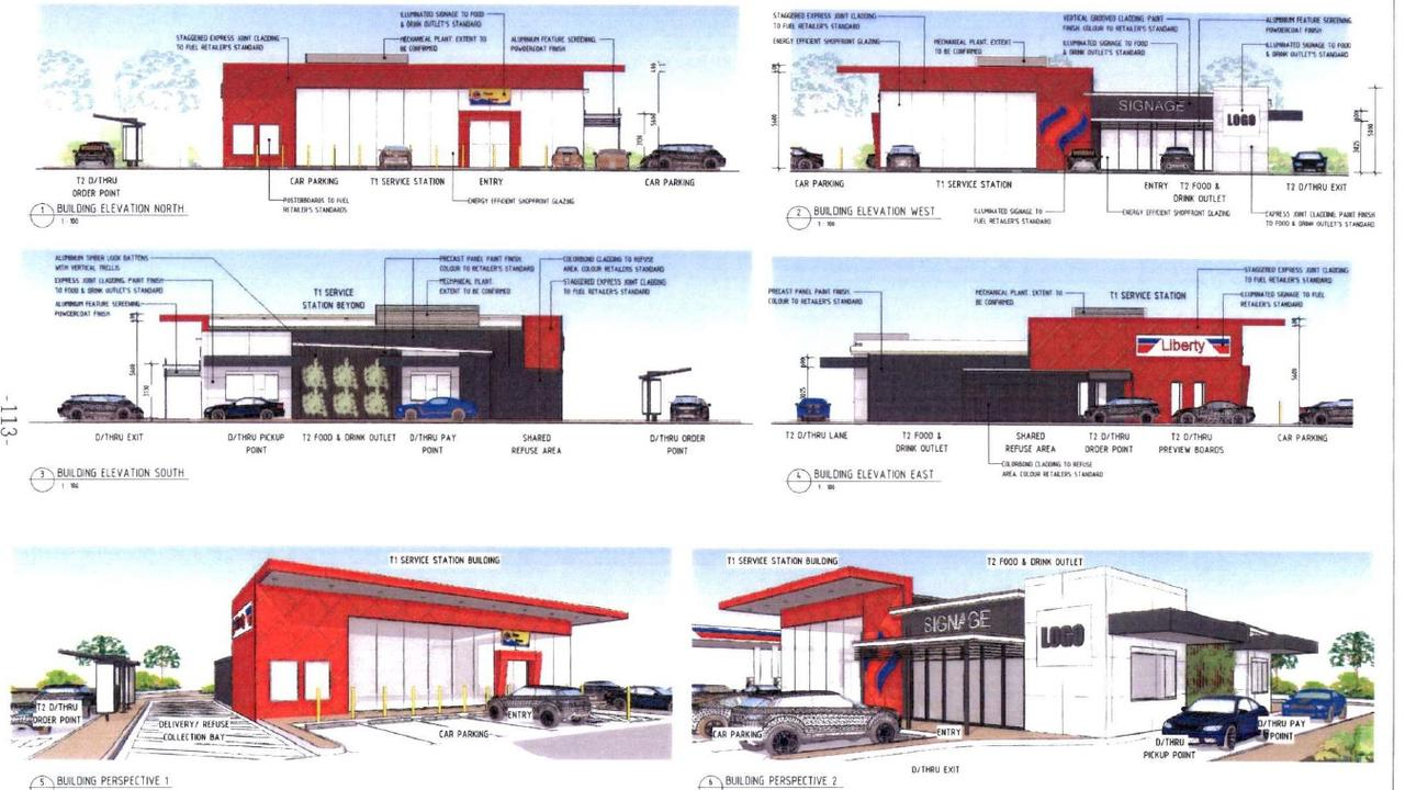 An artists impression of the new Fernvale petrol station development.
