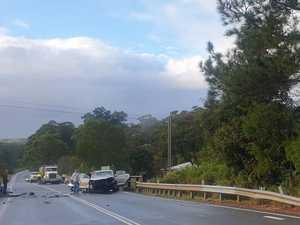 Teenager, woman injured in crash on major road