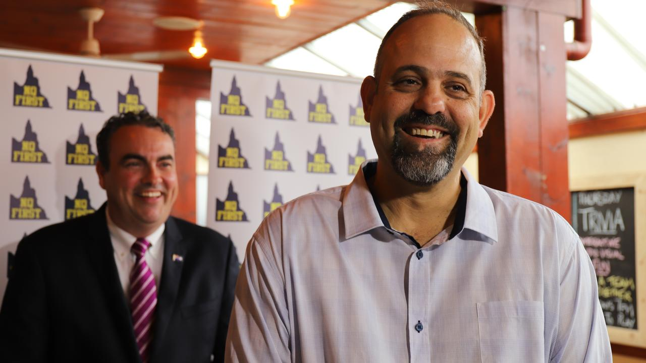 NQ First party leader Jason Costigan announced Mackay Basketball CEO Jason Borg would run for the seat of Mirani in the upcoming state election. Picture: Ashley Pillhofer