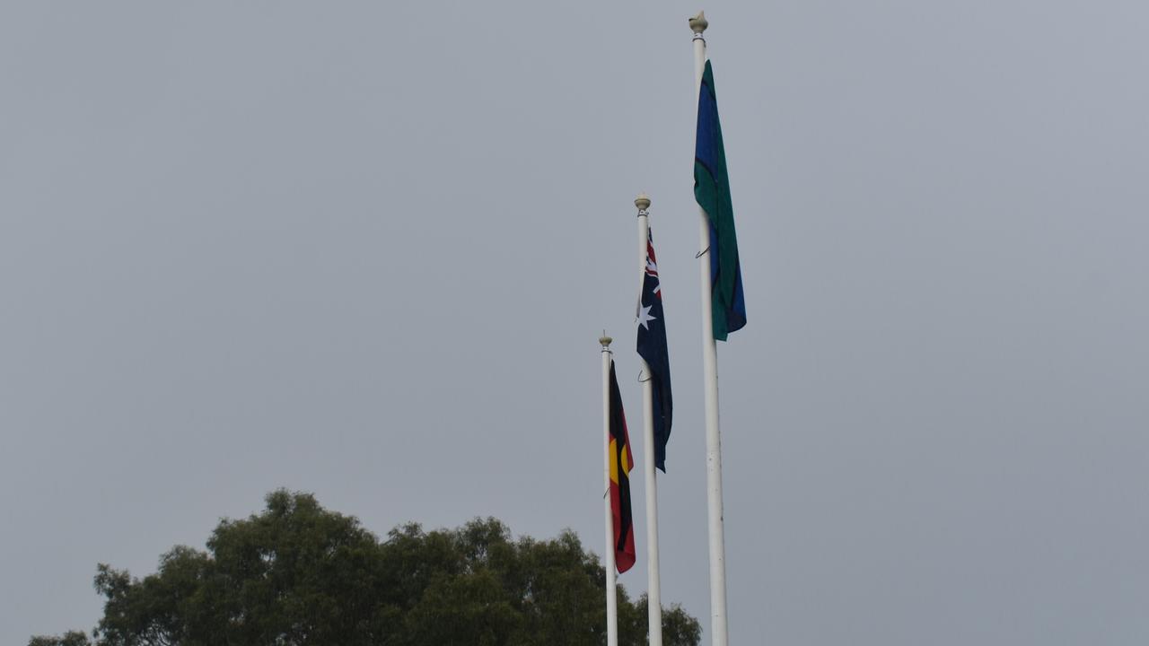 NAIDOC Week 2020 flag raising at Nelson Reserve.