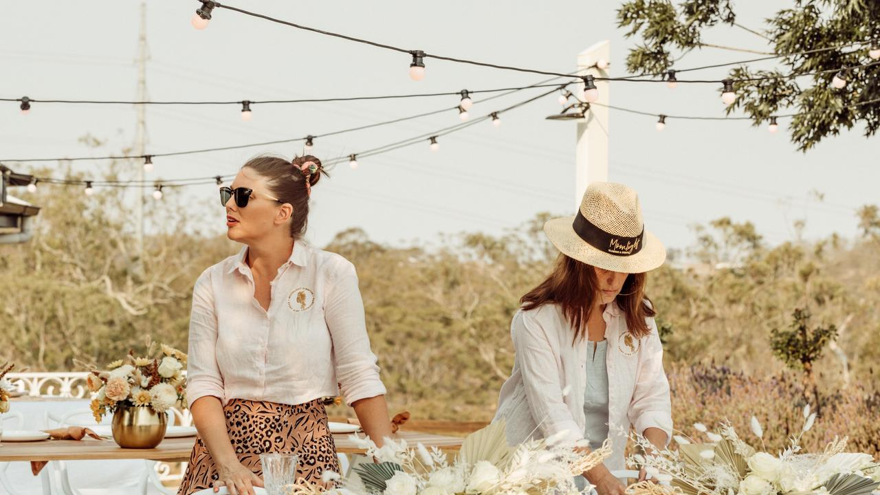 SUCCESS: Moonlight Glamping and Events owner Brooke Sleaford and floral designer Denley Frecklington.
