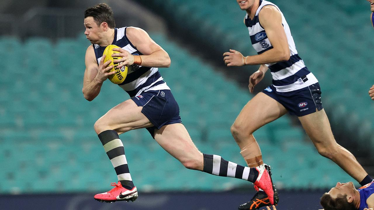 Dangerfield was back to his explosive best. Picture: Phil Hillyard