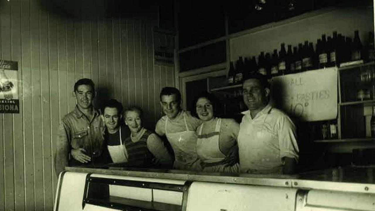 THE BEST OF THE BEST: Hudson's Pies staff from 1955 including owners Hetty (third from left) and Bluey (far right) Hudson.