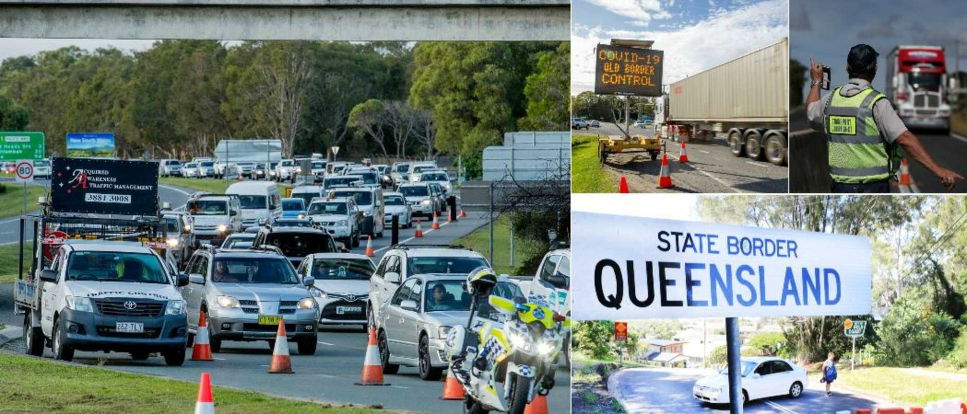 Qld borders: 20km queues expected as police checks ramp up for border reopening