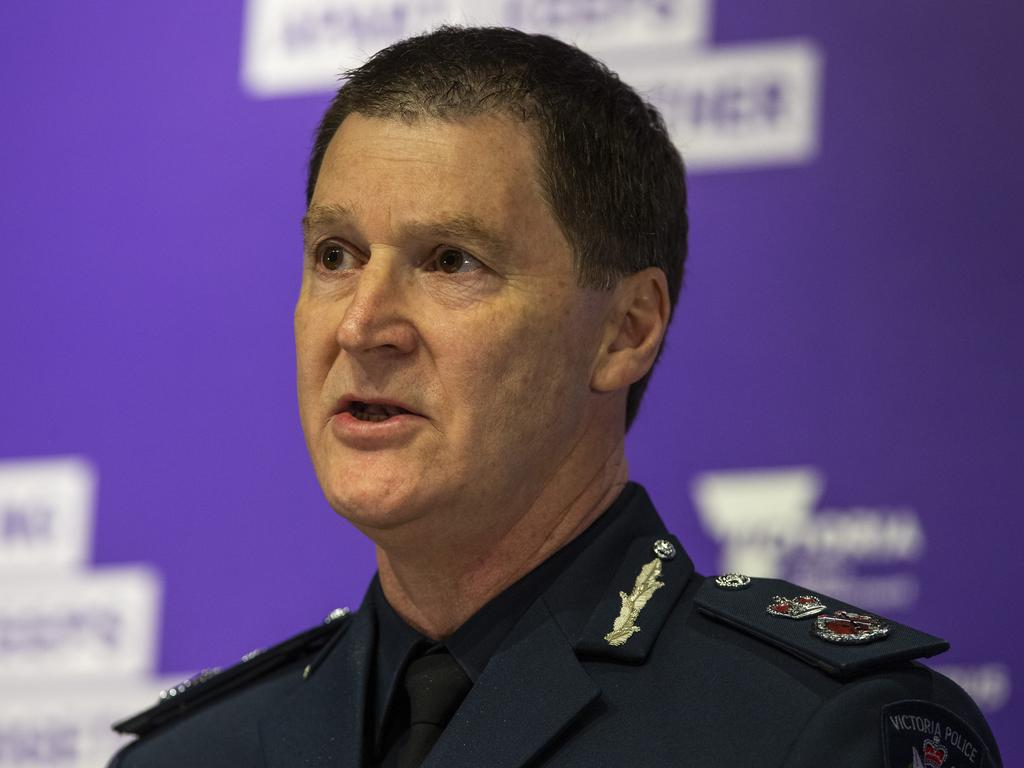 "Victorian Police Chief Commissioner Shane Patton has lashed out at ""selfish"" Melburnians breaching the coronavirus lockdown rules. Picture: Wayne Taylor"