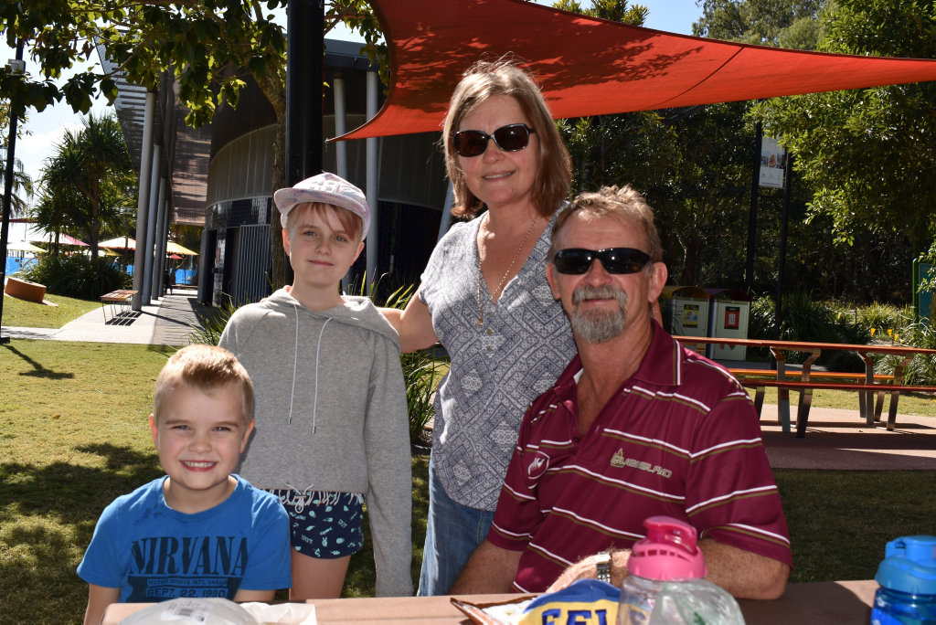 Image for sale: Ryker, Auria, Sue and Steve Corfield at East Shores on Saturday July 11, 2020.