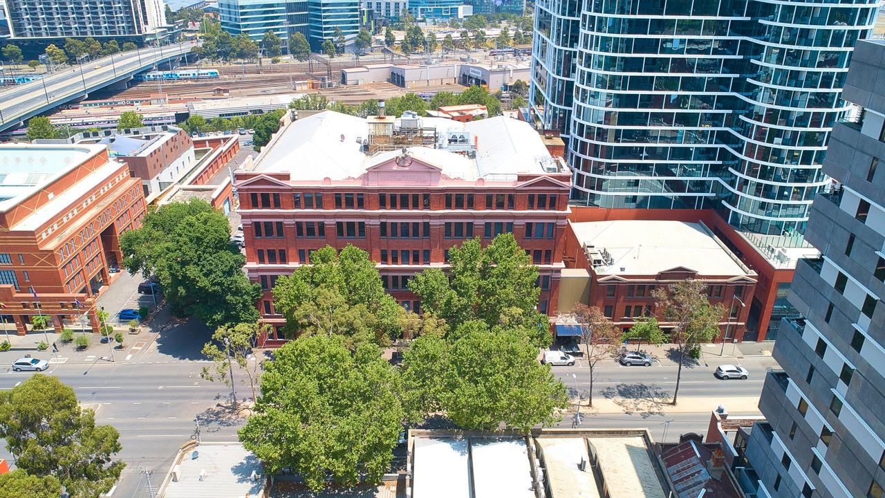 An aerial view of 355 Spencer St, West Melbourne.