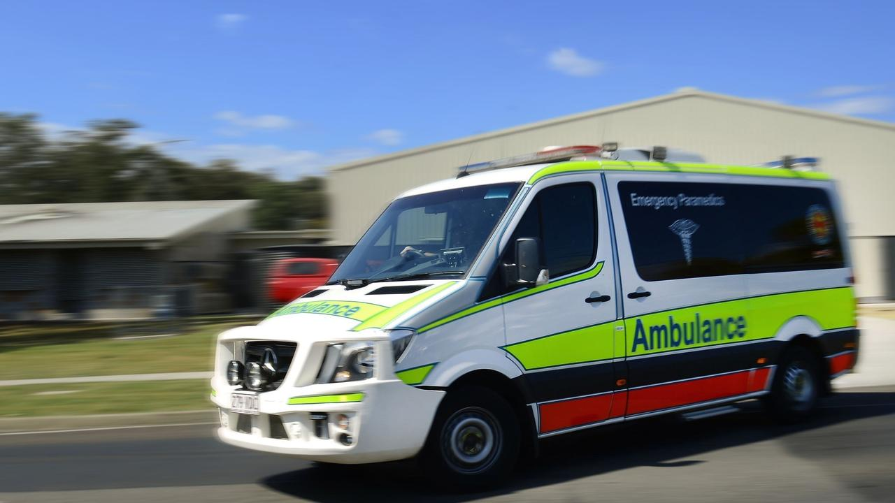 Gladstone paramedics took a woman in her 40s to hospital following a two car crash.