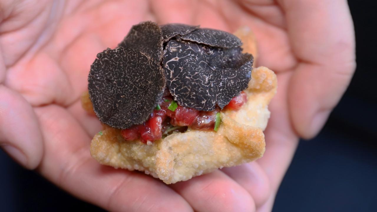 SOUL Dining's truffle wagyu tartare. Picture: Jenifer Jagielski