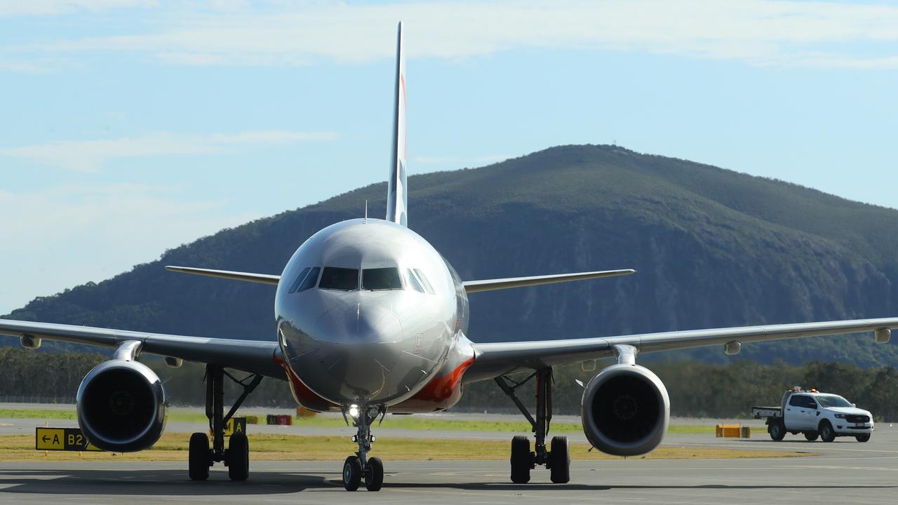 Jetstar flight JQ794 touches down at Sunshine Coast Airport from Melbourne on Monday, July 6. Photo Lachie Millard
