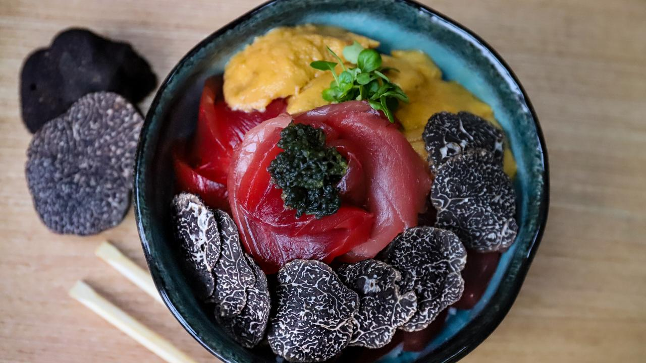 Tuna and uni with truffle. Picture: Jenifer Jagielski