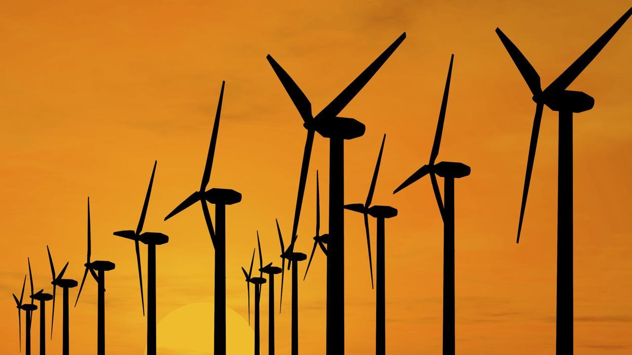Windmills. Wind turbines. Wind farm. Generic image.